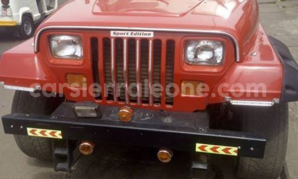 Buy Used Jeep Wrangler Red Car in Freetown in Western Urban