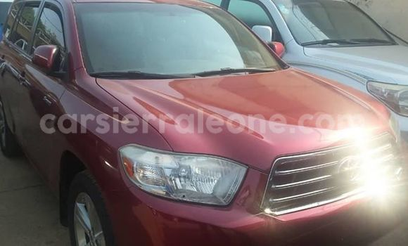 buy popular fa3ad e616c Buy Used Toyota Highlander Red Car in Freetown in Western Urban
