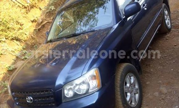 Buy Used Toyota Highlander Blue Car in Freetown in Western Urban
