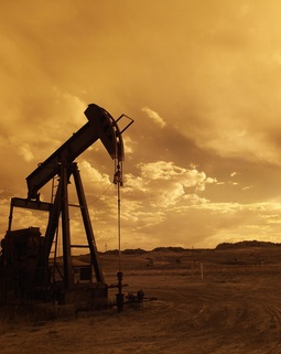 Thumb oil pump jack sunset clouds silhouette 162568